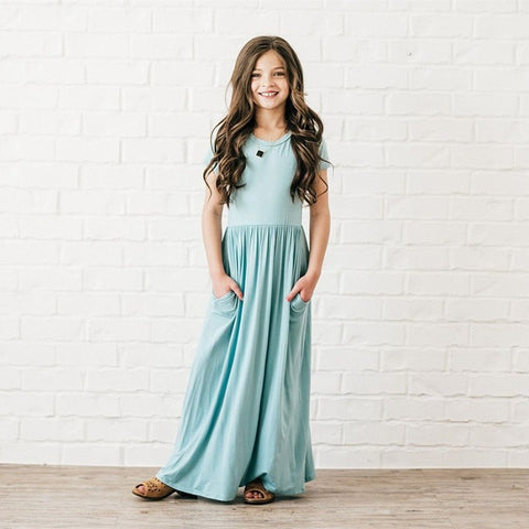Girls Tina Maxi Dress-various colors