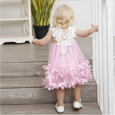 Nia lace petal princess dress