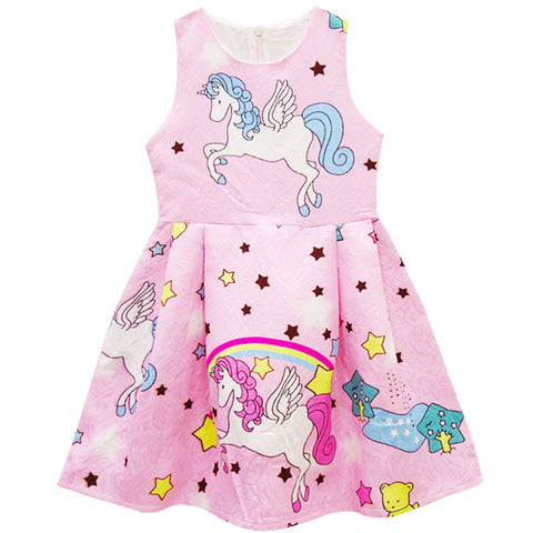 Girls Rainbows and Unicorn Dress