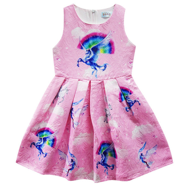 4c5a58ee3261 Girls Rainbows and Unicorn Dress – Haute for Tots