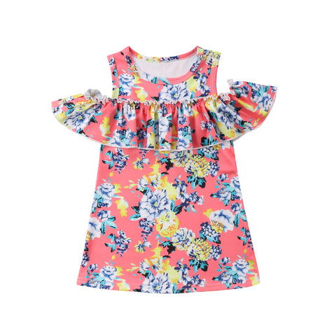 Baby Kids Girls Summer Off Shoulder Unicorn Dress