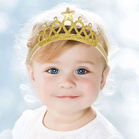 Gold and silver Baby Crown Headband