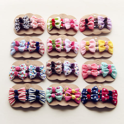 4PCS/lot Baby Small Bow Hairpins