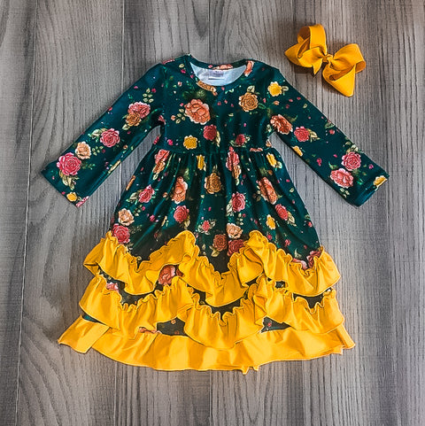 Kids Ruffle Floral Dress