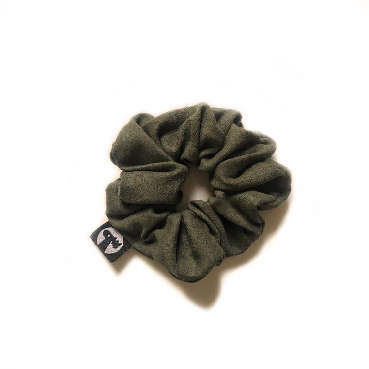 Scrunchie Single - Forest Suede