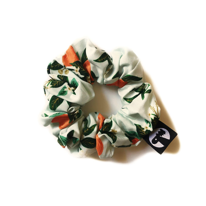 Wooly Maple x Spruce Moose Scrunchie - Orange Citrus Blossom