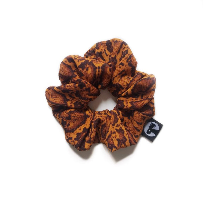 NEW! Scrunchie - Cinnamon Snakeskin