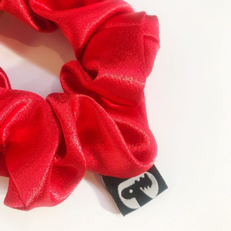 Scrunchie Single - Red Satin