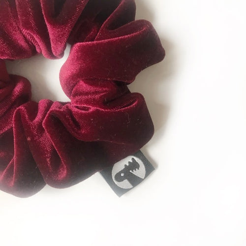 Scrunchie Single - Merlot Velvet