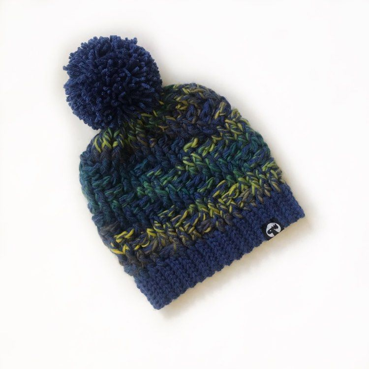 Slouchy Pom Pom Hat - Midnight
