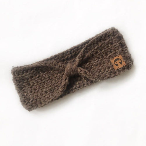 Knotted Crochet Headband - Tweed