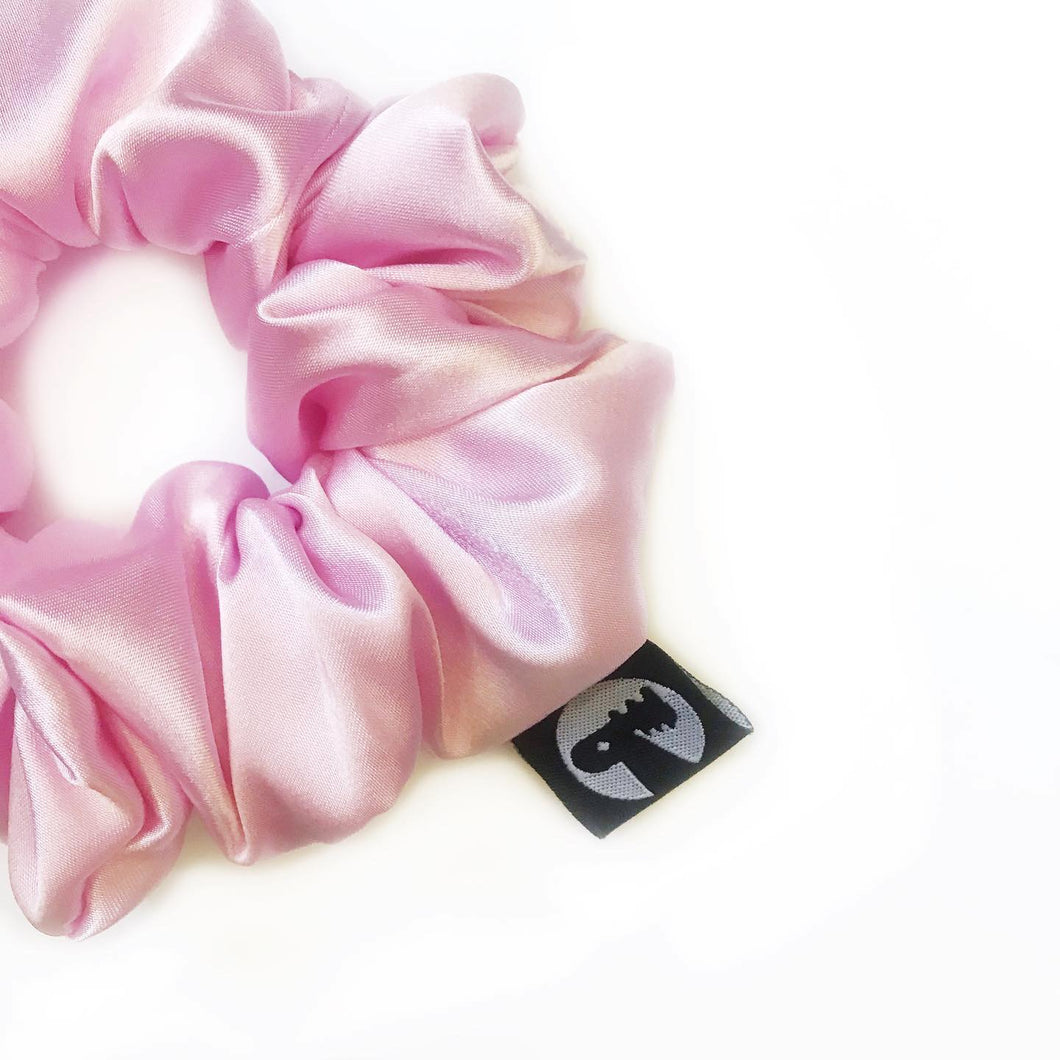 Scrunchie Single - Pink Satin