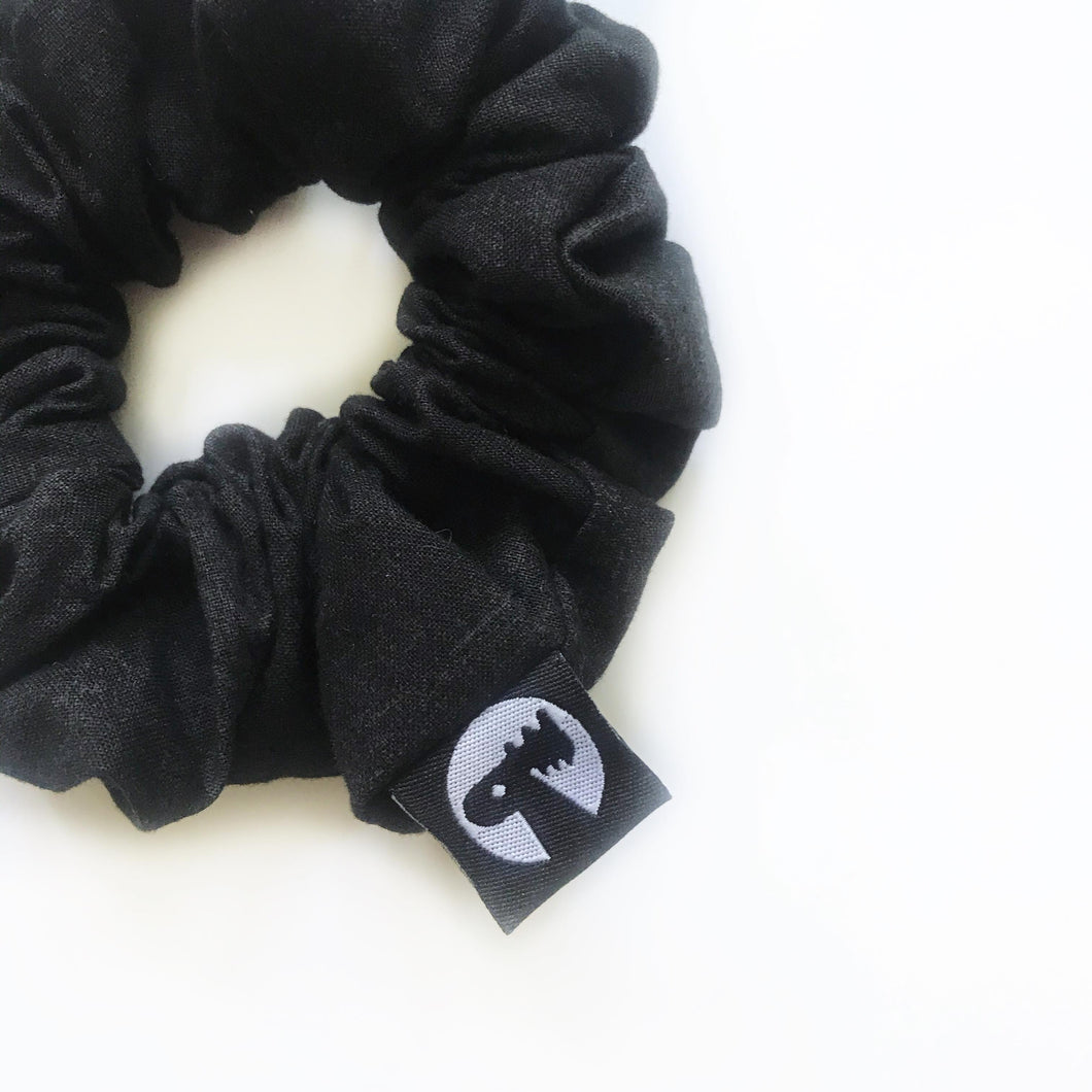 Scrunchie Single - Black Linen