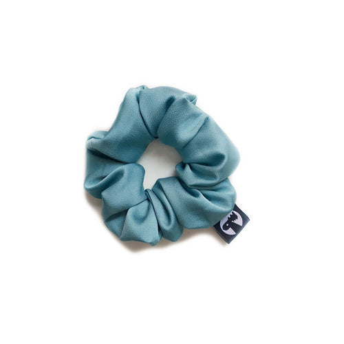 NEW! Scrunchie - Aquamarine Satin