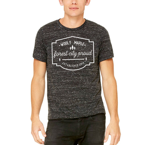 Forest City Proud Unisex T Shirt - Black Marble