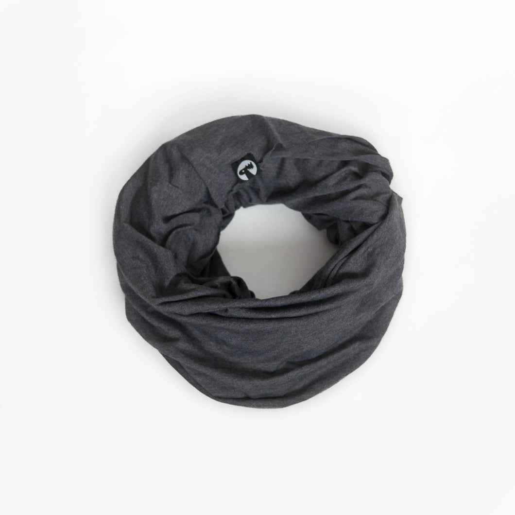 Grey Signature Infinity Scarf
