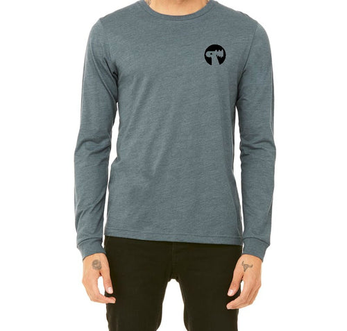 Wooly Maple Long Sleeve T Shirt - Slate Blue