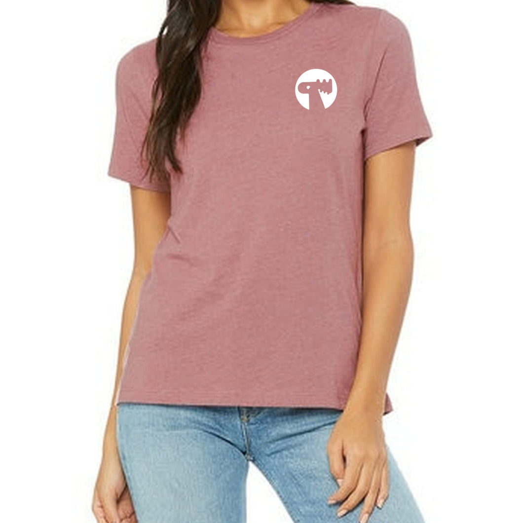 Logo Relaxed Women's Tee - Mauve