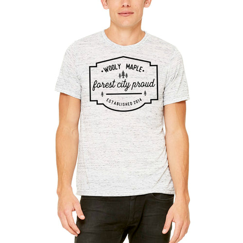 Forest City Proud Unisex T Shirt - White Marble