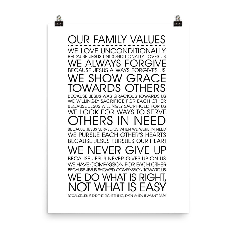 Family Priorities Poster
