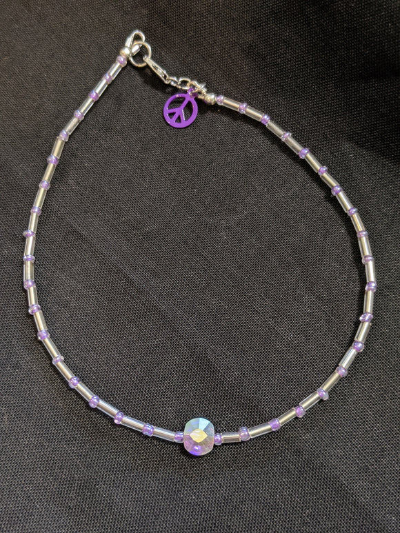 Iridescent Pink Anklet