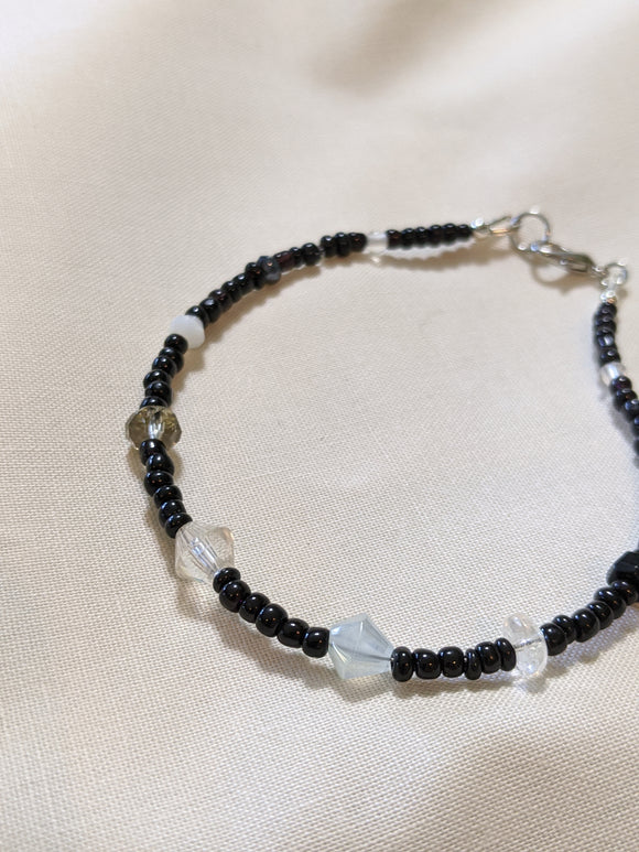 Black & White Anklet