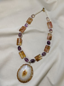 Fluorite Shell Necklace