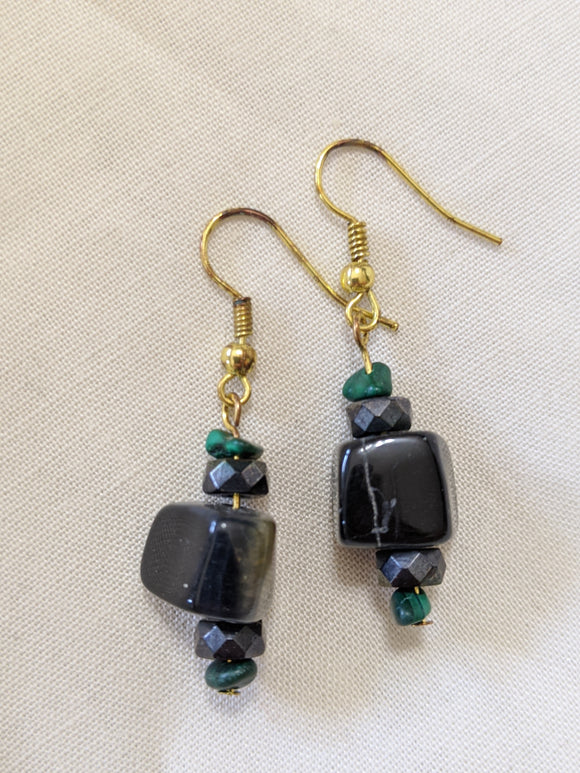 Black Stone Earrings