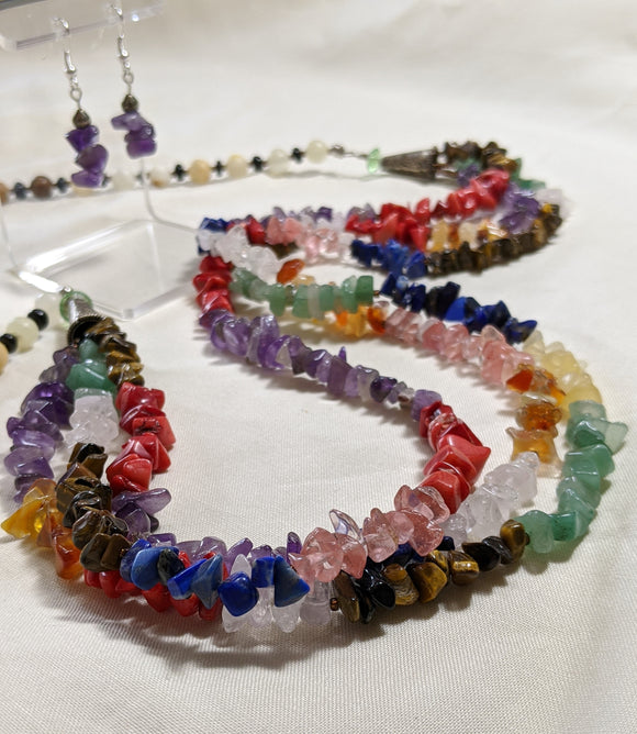 Multi Semi-Precious Stone Set