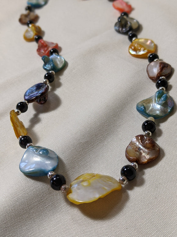 Multi-Colored Shell Necklace