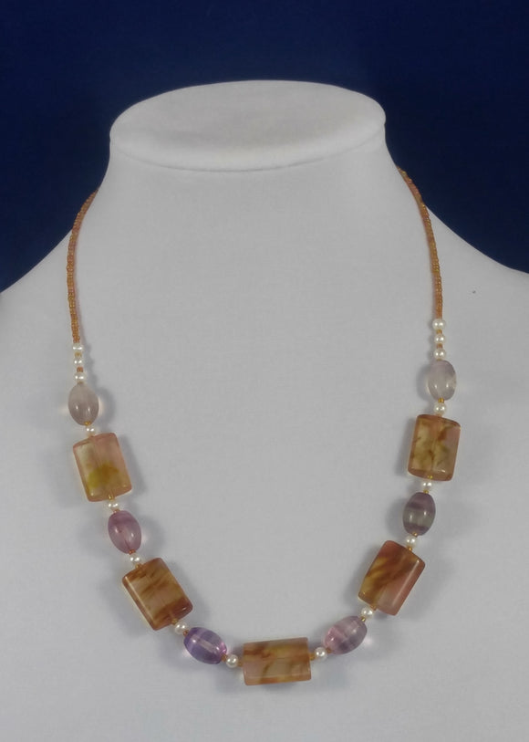 Amethyst & Citrine Necklace