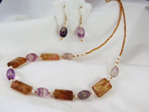 Amethyst & Citrine Set