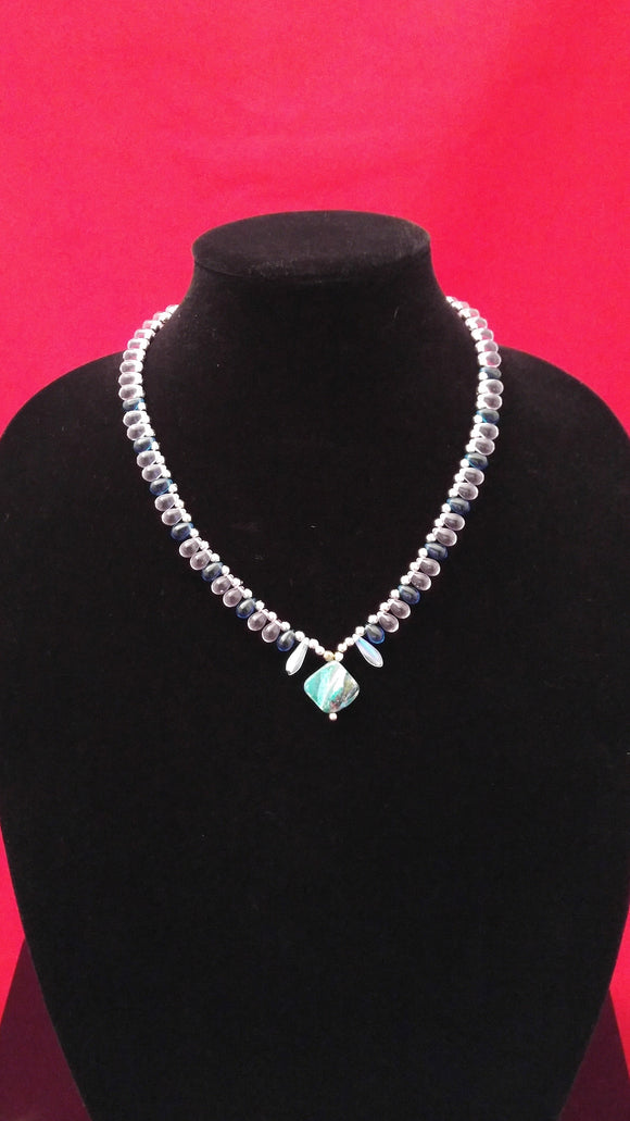 Turquoise Shell & Teardrop Necklace