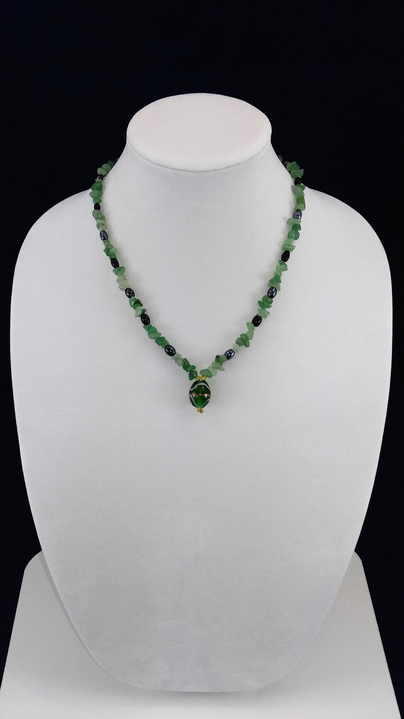 Jade & Hematite Necklace