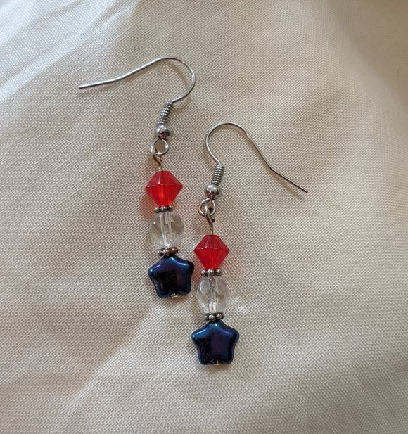Red, White & Blue Star Earrings