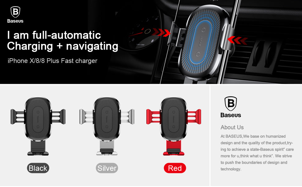 Car MountWireless Charger Quick Charge Fast Wireles