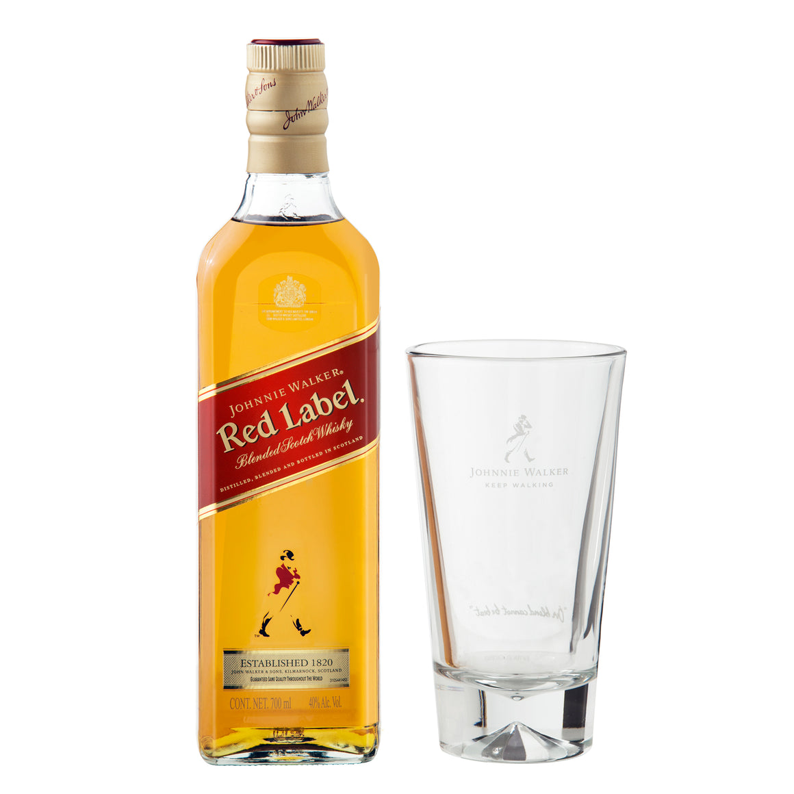 Whisky Johnnie Walker Etiqueta Roja 750 ml + Highball