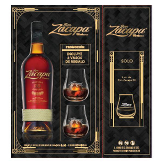 Ron Zacapa Centenario 23 750 ml + 2 vasos-Vinexa