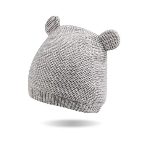Bear Ears Baby Girls Hat-Baby Girls-KidsDoFashion