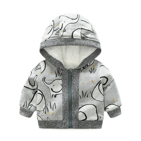 Cute Elephant Jacket-Baby Girls-KidsDoFashion