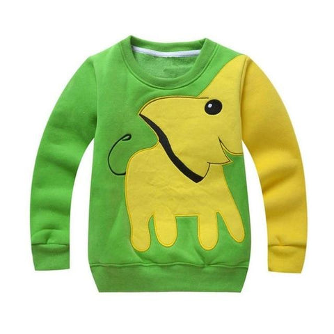 Cute Elephant Long Sleeve Top-Boys-KidsDoFashion