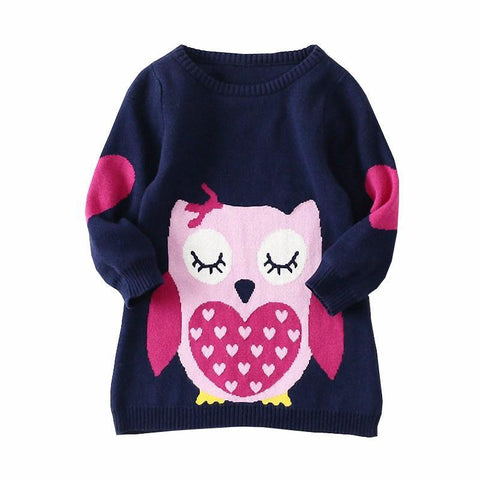 Cute Owl Sweater-Girls-KidsDoFashion