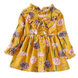 Floral Long Sleeve Autumn Dress-Girls-KidsDoFashion