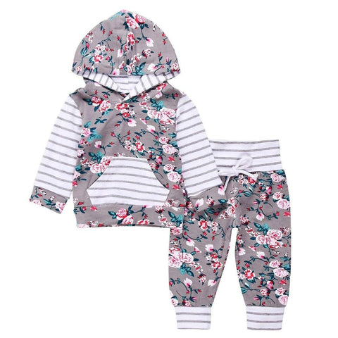 Flower Cute Clothing Set-Baby Girls-KidsDoFashion
