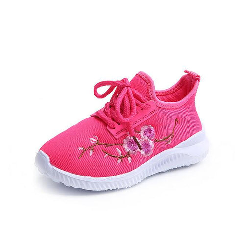 Girls Floral Sneakers-Girls-KidsDoFashion