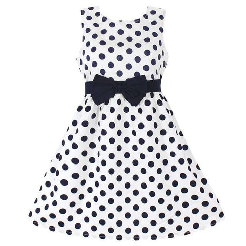 Polka Dot Party Dress-Girls-KidsDoFashion