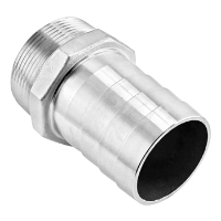 "Stainless Steel Fitting - 2 1/2"" Male NPT X 2 1/2"" OD Barb"