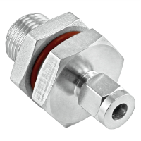 "Stainless Steel Weldless HERMS Bulkhead - 1/2"" Male NPT X 1/4"" Compression"