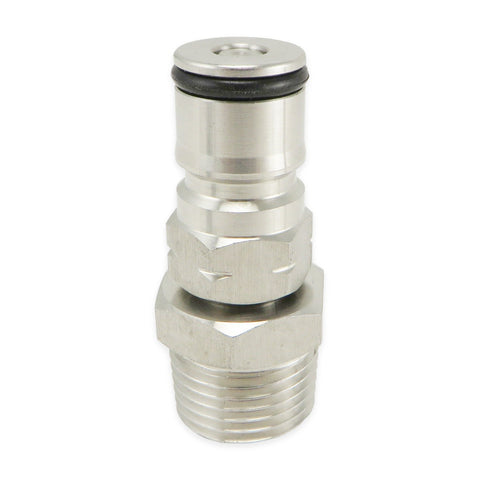 "Single 19/32 Gas Ball Lock Post - 1/2"" MPT"
