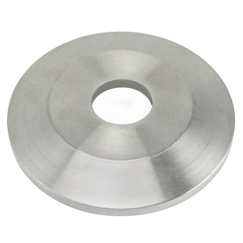 "Stainless Steel TC Cap with 1/2"" Center Cut Out - 1.5"" TC"
